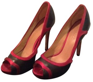 L.A.M.B. Black with red Pumps