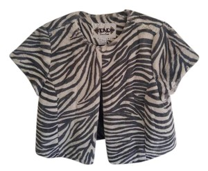 Live A Little Super Soft Fur Animal Print Charcoal Grey and Off White Jacket