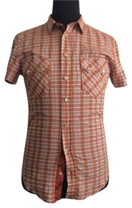 Dolce&Gabbana Button Down Shirt Orange