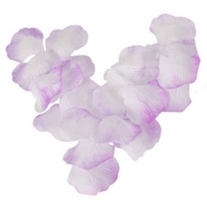 1200pcs. Lavender And White Ombre Silk Petal Aisle Runner Decorations