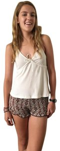 Brandy Melville Chiffon Casual Mini/Short Shorts Patterned