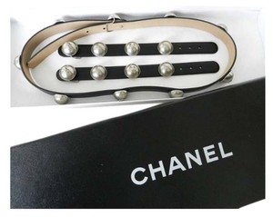 Chanel Chanel Belt And Bracelets Set With Silver Domes And Logos