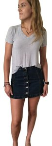Topshop Denim Mini Skirt Denim Blue