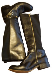 MICHAEL Michael Kors Stretch Back Leather Arley Brown/black Boots
