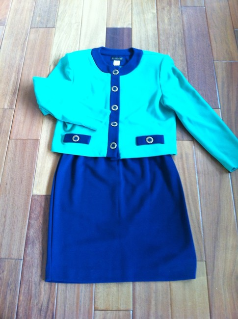 P.J. Klein Classic Kelly Green and Navy 2-pc.