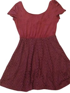 Mimi Chica short dress Purple on Tradesy