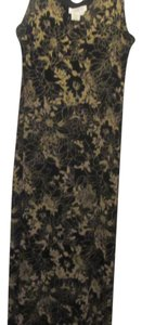 Coldwater Creek short dress black with gold floral print on Tradesy