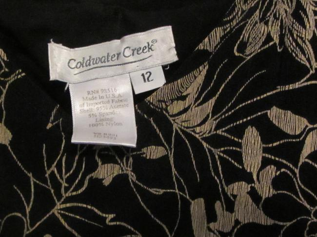 Coldwater Creek short dress black with gold floral print on Tradesy Image 2