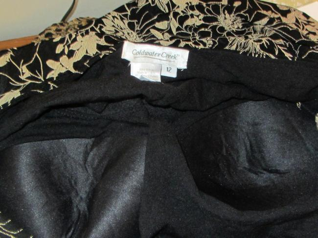Coldwater Creek short dress black with gold floral print on Tradesy Image 3