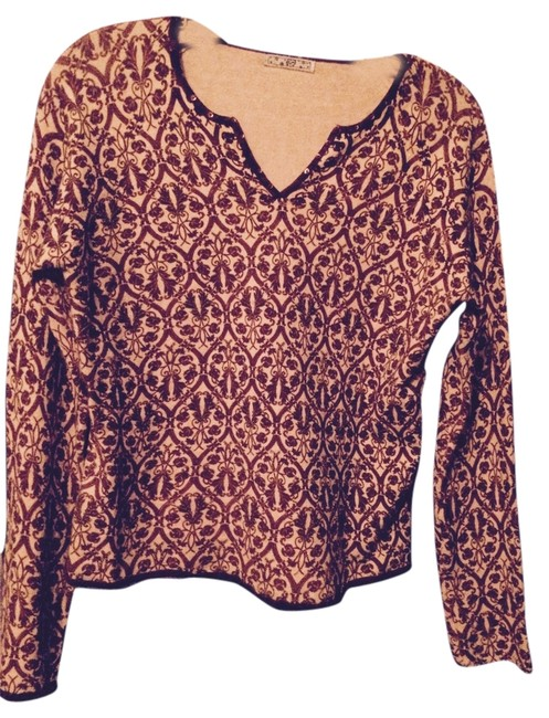 Preload https://item5.tradesy.com/images/chic-star-ivory-and-bronze-sequins-embroidered-cool-boho-unique-night-out-top-size-8-m-1758374-0-0.jpg?width=400&height=650