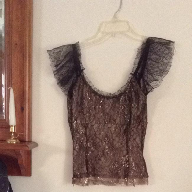 Betsey Johnson Top Black & Gold