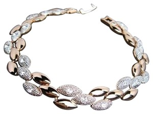 Freestyle Swarovski Crystal Bracelet in White and Gold Plated