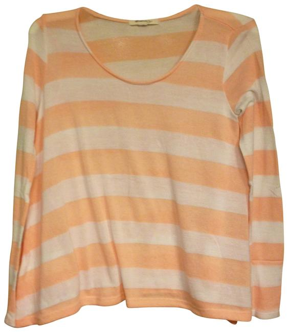 Preload https://img-static.tradesy.com/item/175852/forever-21-peach-white-sweaterpullover-size-4-s-0-0-650-650.jpg