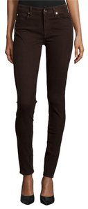 7 For All Mankind Soft Stretchy Ankle Skinny Jeans-Dark Rinse