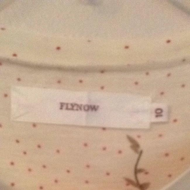 Flynow T Shirt Cream Olive Green & Pink