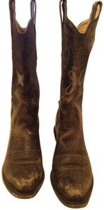 Old West Leather Distressed black Boots