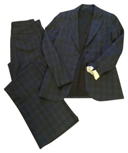 Theory Theory Suit- Classic Navy Plaid