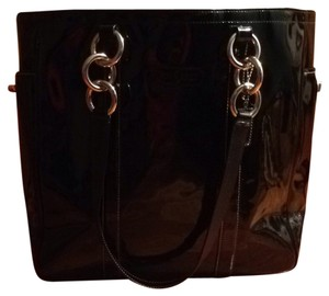 Coach Tote in Black Patent