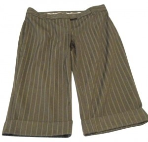 Express Bermuda Shorts Black with white pinstripes