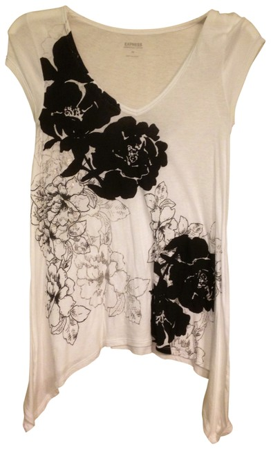 Express Top White, black