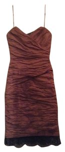 BCBGMAXAZRIA Lace Formal Bcbg Foil Dress