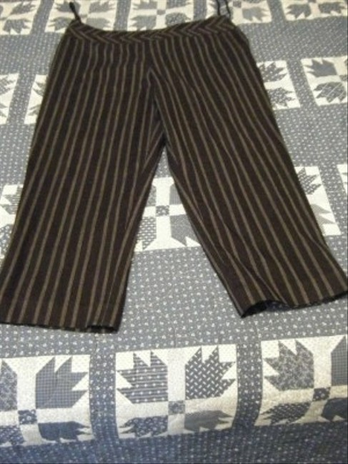 Nine West Capris Black with white pinstripes