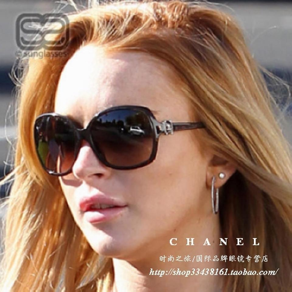 8a28d782cca14 Chanel Grey Tweed 5174 Cc Logo Oversized Dark Square Black Quilted Leather  Sunglasses - Tradesy