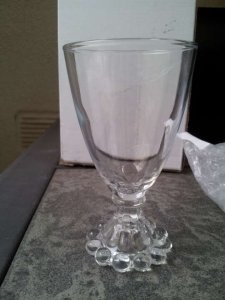 15 Hobnail Trim Bud Vase Glass
