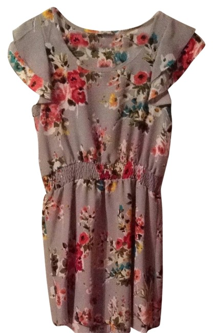 Preload https://item5.tradesy.com/images/snap-dress-grey-floral-1758974-0-0.jpg?width=400&height=650