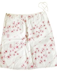 American Eagle Outfitters Skirt White/ red