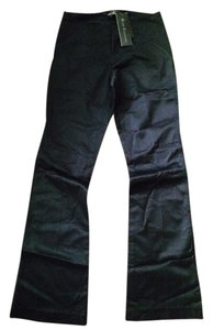 Grass Collection Straight Pants Satin black