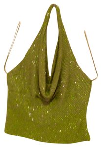 Carmen Marc Valvo Lime Green Halter Top