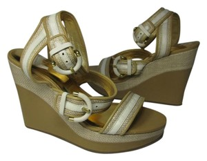 Coach Maralee Tan/ Natural Platform Sandals natural/ tan Wedges