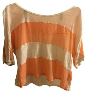 Forever 21 T Shirt White/Peach