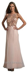 Dave & Johnny Prom Homecoming Embroidered Illusion Neckline Dress