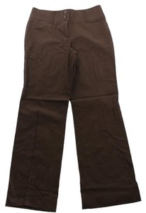 Ellen Tracy New Straight Pants MAHOGANY BROWN
