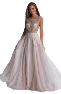 Dave & Johnny Prom Homecoming Illusion Neckline V-back Dress