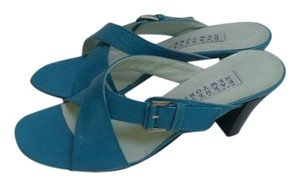 Barneys New York All Soft Leather Italian blue Sandals