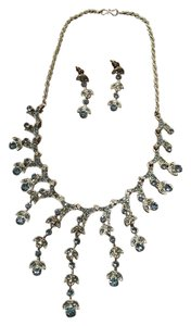 Unknown Silver necklace and earrings set