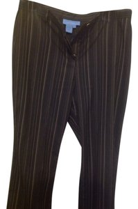Doncaster Boot Cut Pants Black with tan and white stripes