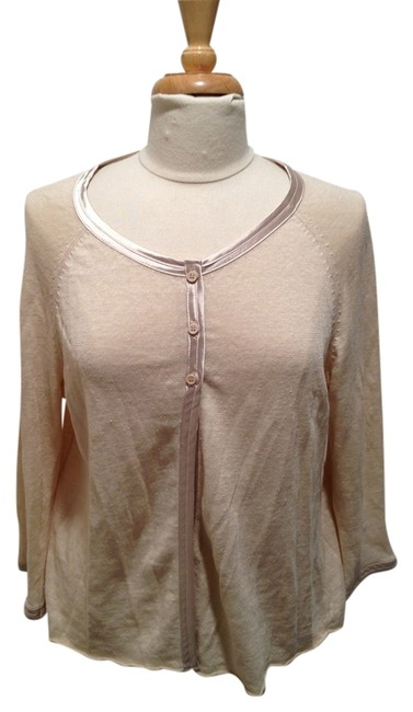 Preload https://item5.tradesy.com/images/avalin-taupe-with-satin-piping-cardigan-size-12-l-1759584-0-0.jpg?width=400&height=650