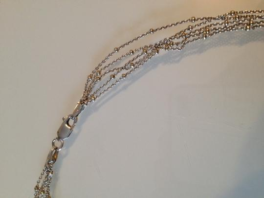 Other Silver Necklace with 5 Strands