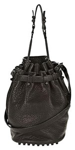 Alexander Wang Diego Bucket Matte Pebbled Satchel in BLACK