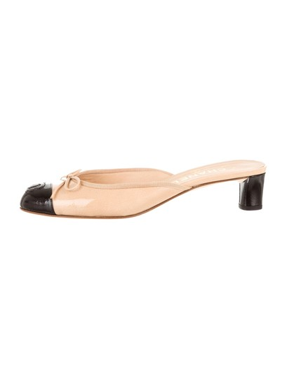 Chanel Camel Mules