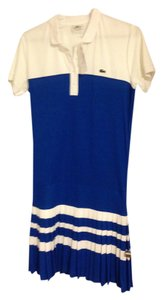 Lacoste short dress Blue and White on Tradesy
