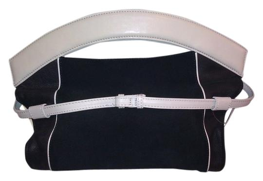 Preload https://item5.tradesy.com/images/maje-new-blackmulticolor-leathersuede-clutch-1759779-0-0.jpg?width=440&height=440