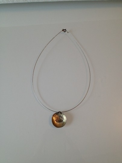 Other Handmade round concave pendent necklace