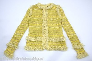 Basler Basler Strick Garden P. Yellow Ribbon Embellished Jacket Or