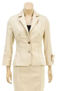 Marvel by La Perla Marvel by La Perla Cream Two Button Jacket and Skirt Set (Size 42)