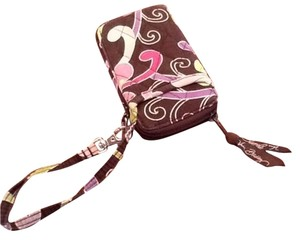 Vera Bradley Wristlet in Brown And Purple